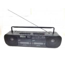 RADIO DOUBLE CASSETTE STEREO RADIALVA RDK6527 TUNER PO/GO/FM DIGITAL