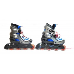 PAIRE DE ROLLERS T.33-36 + PROTECTIONS COUDIERES-GENOUILLERES-CASQUE