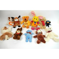LOT DE 11 PETITES PELUCHES ASSORTIES
