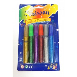 LOT 6 CRAYONS COLLE A PAILLETTES LOISIRS CREATIFS