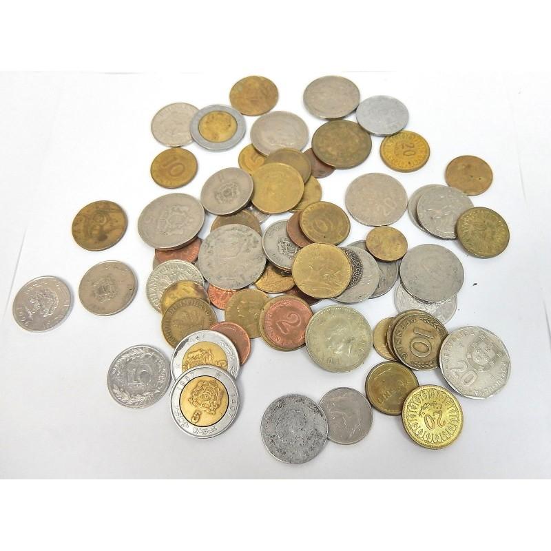LOT 61 PIECES DE MONNAIE INTERNATIONAL