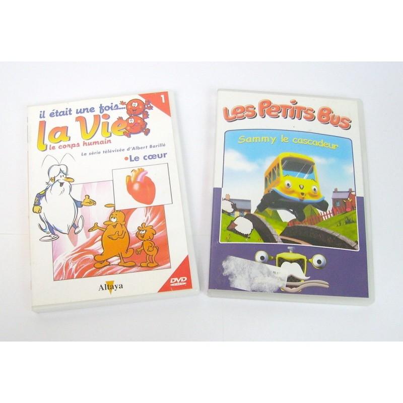 LOT 2 DVD ENFANT LES PETITS BUS ET IL ETAIT UNE FOIS LA VIE