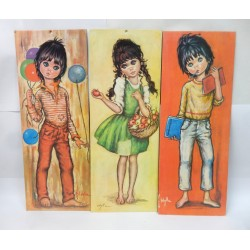 LOT DE 3 REPRODUCTIONS IMPRIMEES ENFANTS F.IDYLLE