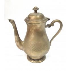 CAFETIERE ANCIENNE EN METAL ARGENTE 20CM