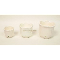 LOT DE 3 MINI CACHE-POTS EN CERAMIQUE LOGO YVES ROCHER