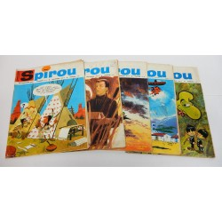 JOURNAL DE SPIROU ANNEE 1966 LOT DE 5 NUMEROS