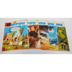 JOURNAL DE SPIROU ANNEE 1966 LOT DE 5 NUMEROS