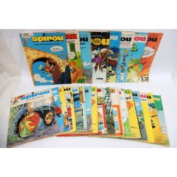 JOURNAL DE SPIROU ANNEE 1970 LOT DE 26 NUMEROS