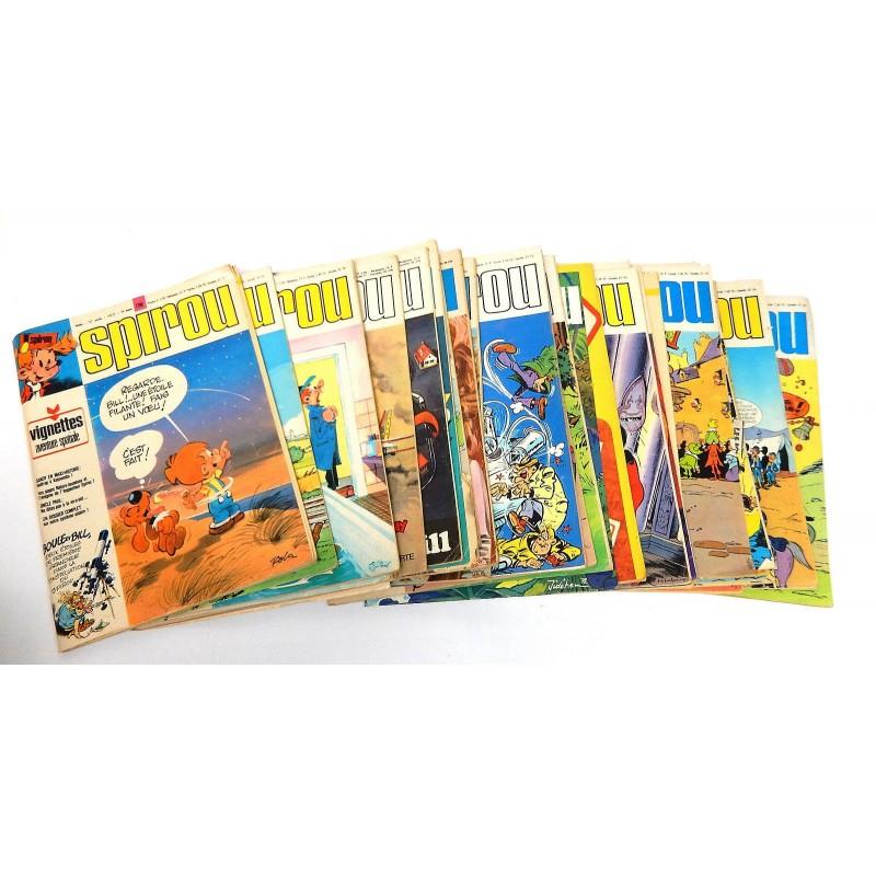 JOURNAL DE SPIROU ANNEE 1972 LOT DE 30 NUMEROS