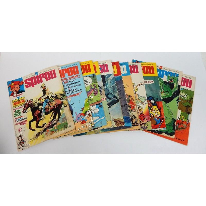 JOURNAL DE SPIROU ANNEE 1976 LOT DE 11 NUMEROS