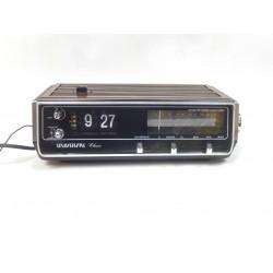 RADIO REVEIL VINTAGE A LAMELLES FLIP FLAP UNIVERSAL