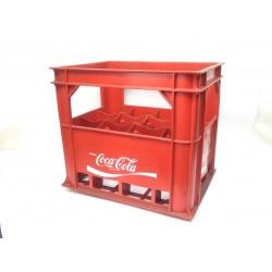 CASIER CAISSE PLASTIQUE COCA-COLA POUR 12 BOUTEILLES 1L