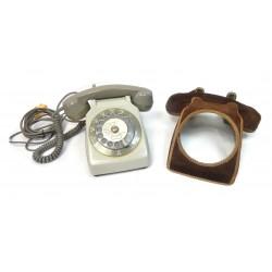 TELEPHONE A CADRAN SOCOTEL S63 GRIS AVEC HABILLAGE