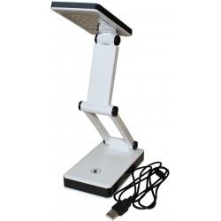 LAMPE DE BUREAU PLIABLE 24 LED PILES/USB