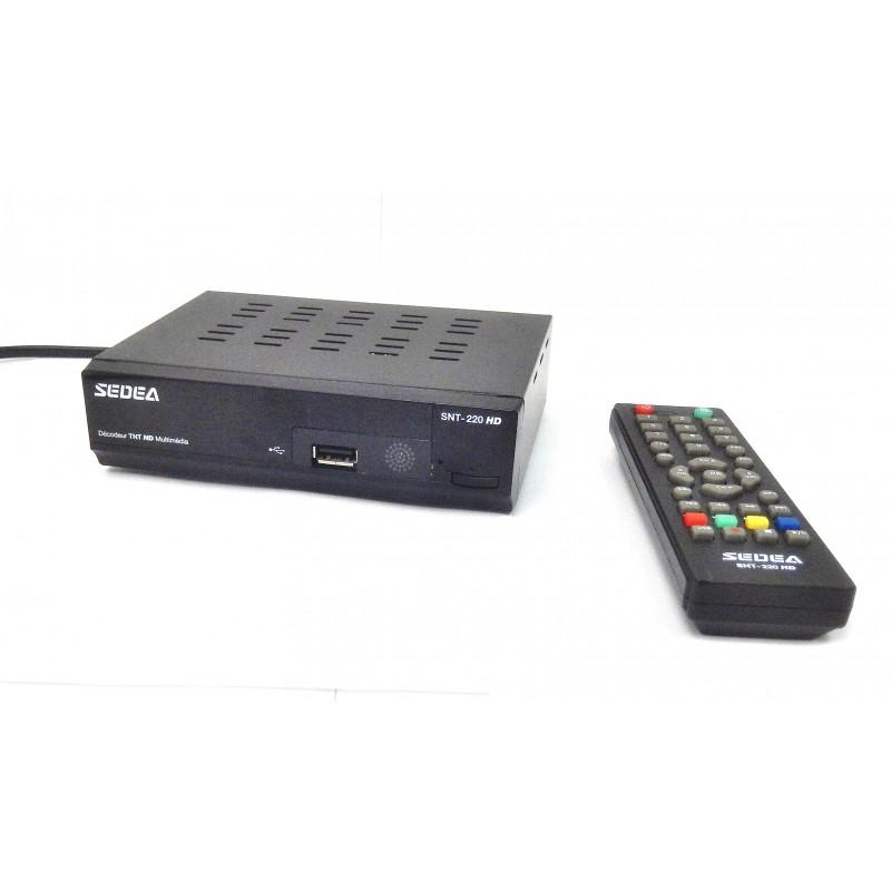 RECEPTEUR TNT HD SEDEA SNT-220 PERITEL ET HDMI
