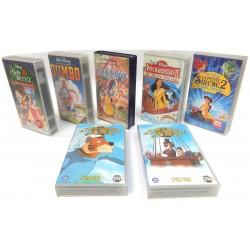 LOT 7 CASSETTES VHS DESSINS ANIMES DISNEY