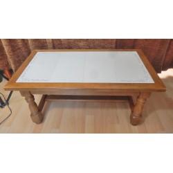 TABLE DE SALON RUSTIQUE DESSUS CARRELAGE