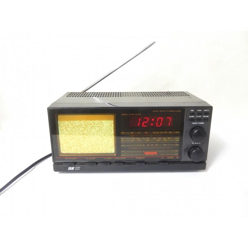 RADIO REVEIL MINI TV N&B AUDIOSONIC TC946F