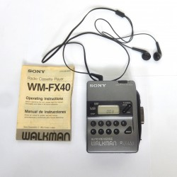 WALKMAN SONY WM-FX40 RADIO AM/FM CASSETTE AUTO REVERSE